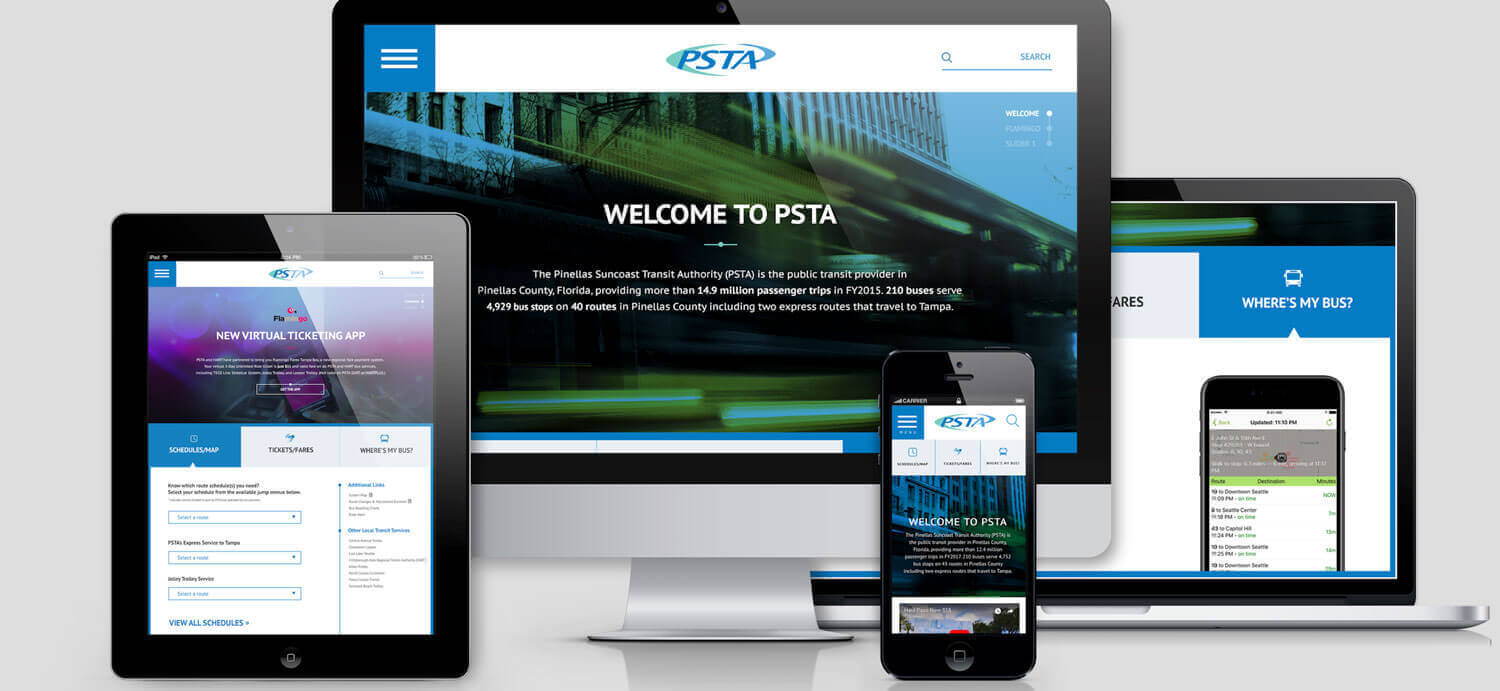 PSTA Site Redesign and Online Media